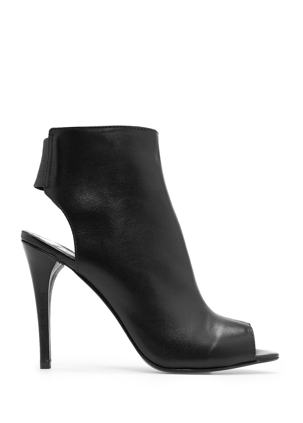 Botines peep-toe piel - Calzado - Mujer - OUTLET