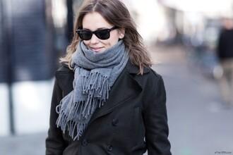 after drk blogger scarf sunglasses