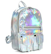 bag,backpack,holographic,shoes,socks,skirt,silver,white,black,classic,grunge,tumblr,80s style,kylie jenner,baddies,cute,hair,sexy,silver bag