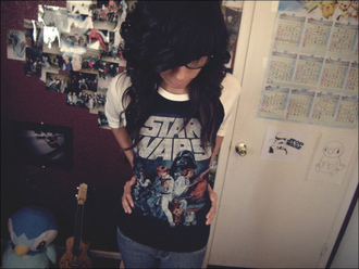 star wars t-shirt shirt baseball shirt vintage