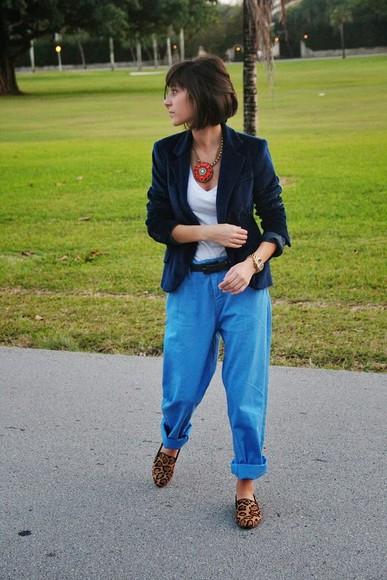 oversized pants zara steve madden velvet statement necklace