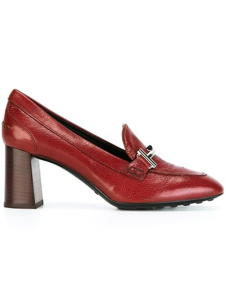 style women pumps leather red shoes