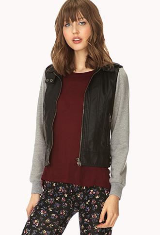 Underground Faux Leather Jacket | FOREVER21 - 2000073336
