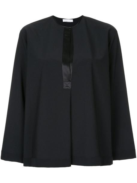 Jean Paul Knott top women black silk