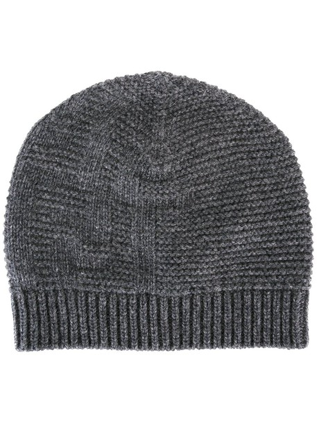 beanie knit grey hat