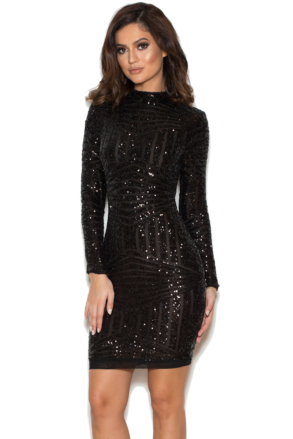 31959410c7f Clothing Bodycon Dresses Zouita Black Embellished Glitter Dress