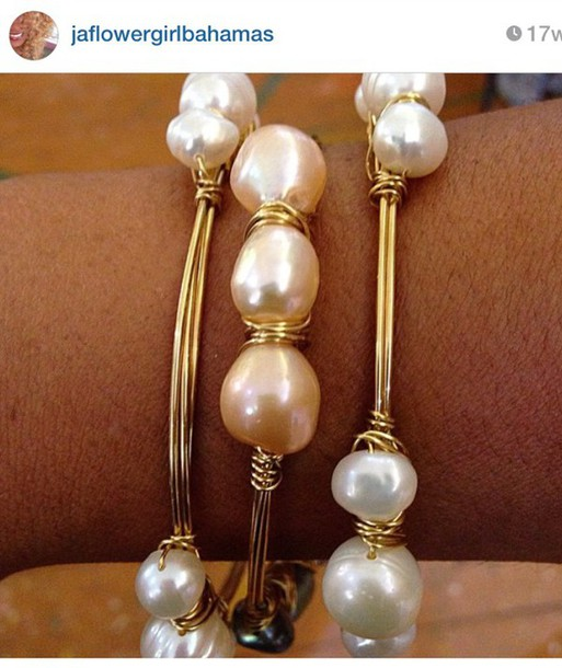 jewels beaded pearl bracelets gold bangle bahamas