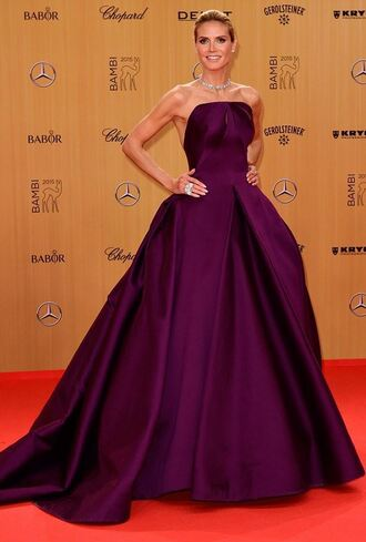 dress gown prom gown prom prom dress heidi klum burgundy dress burgundy strapless