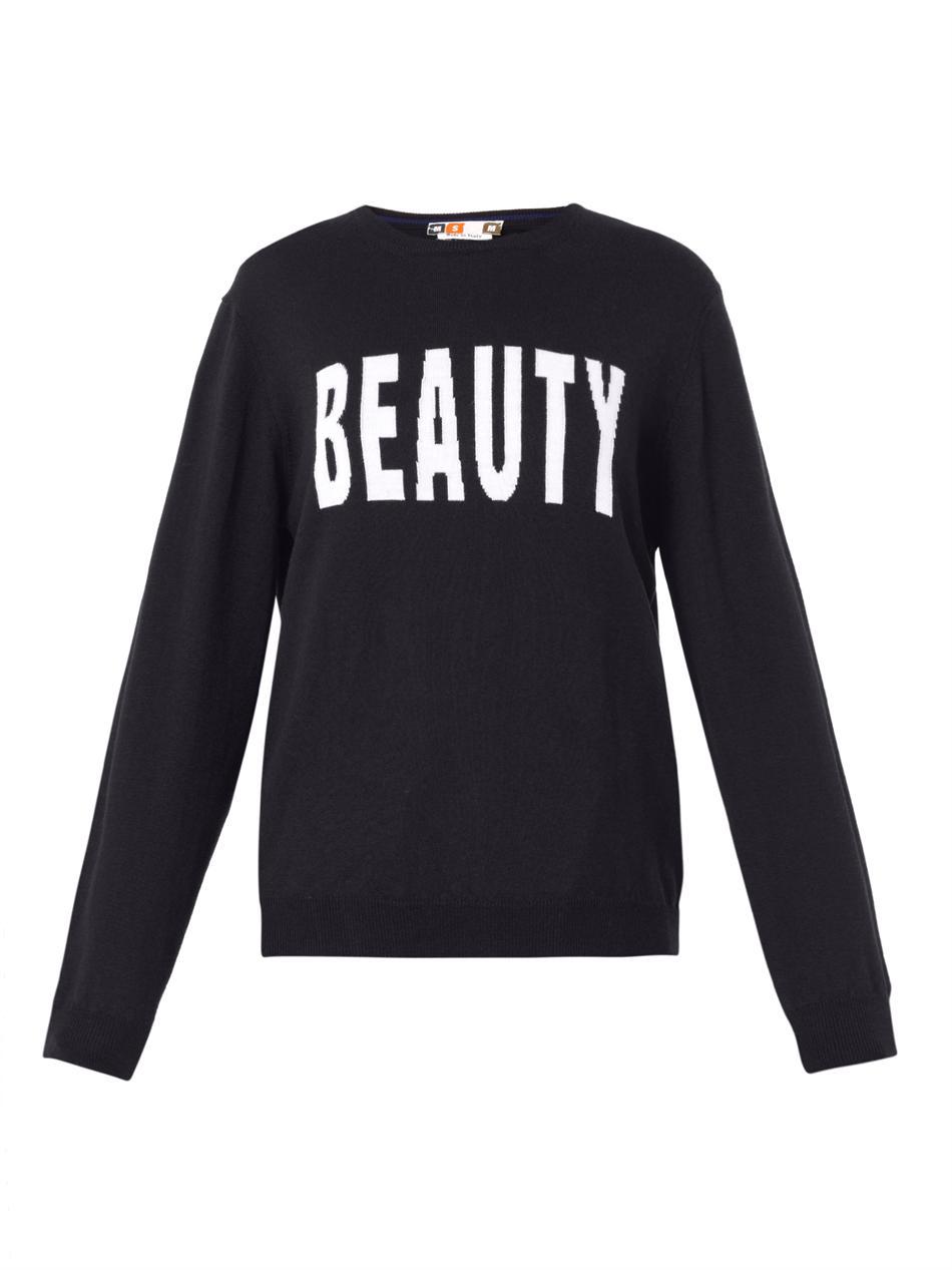 Beauty-intarsia wool-knit sweater | MSGM | MATCHESFASHION.COM