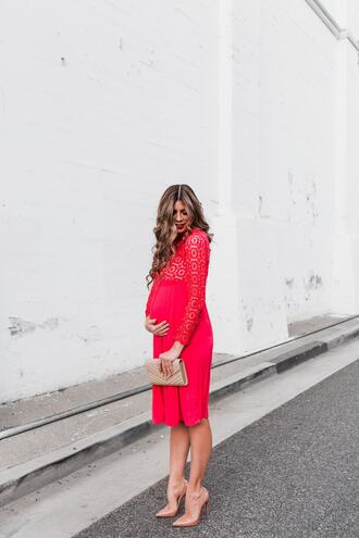 mint arrow blogger dress bag shoes red dress maternity dress maternity nude heels ysl bag clutch