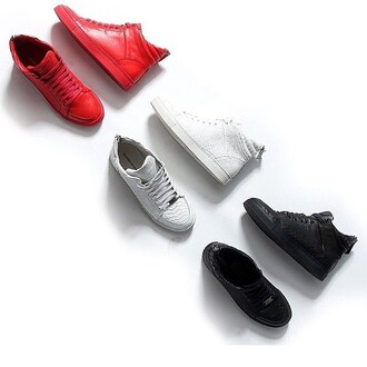 shoes maniere de voir virtue sneakers trainers blood red