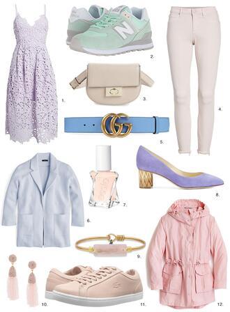 sydne summer's fashion reviews & style tips blogger dress shoes bag jeans belt jacket jewels coat gucci belt new balance lace dress spring outfits