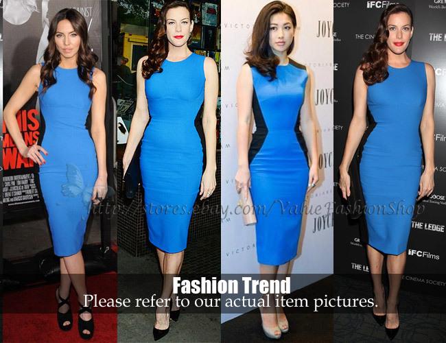 European Star Loves Retro Splic Design Slim Hip Sleeveless Pencil Ol Dress Three Color For Choose Plus Size | Amazing Shoes UK