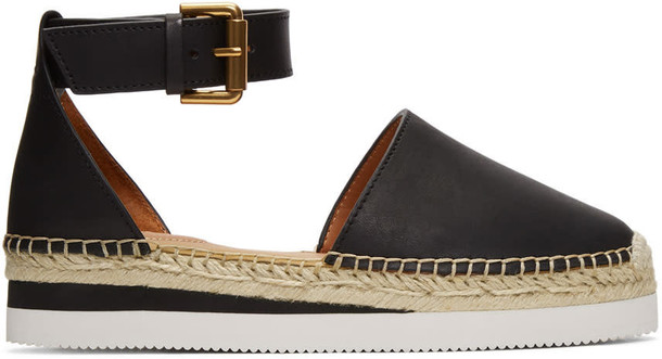 See by Chloe espadrilles leather black black leather shoes