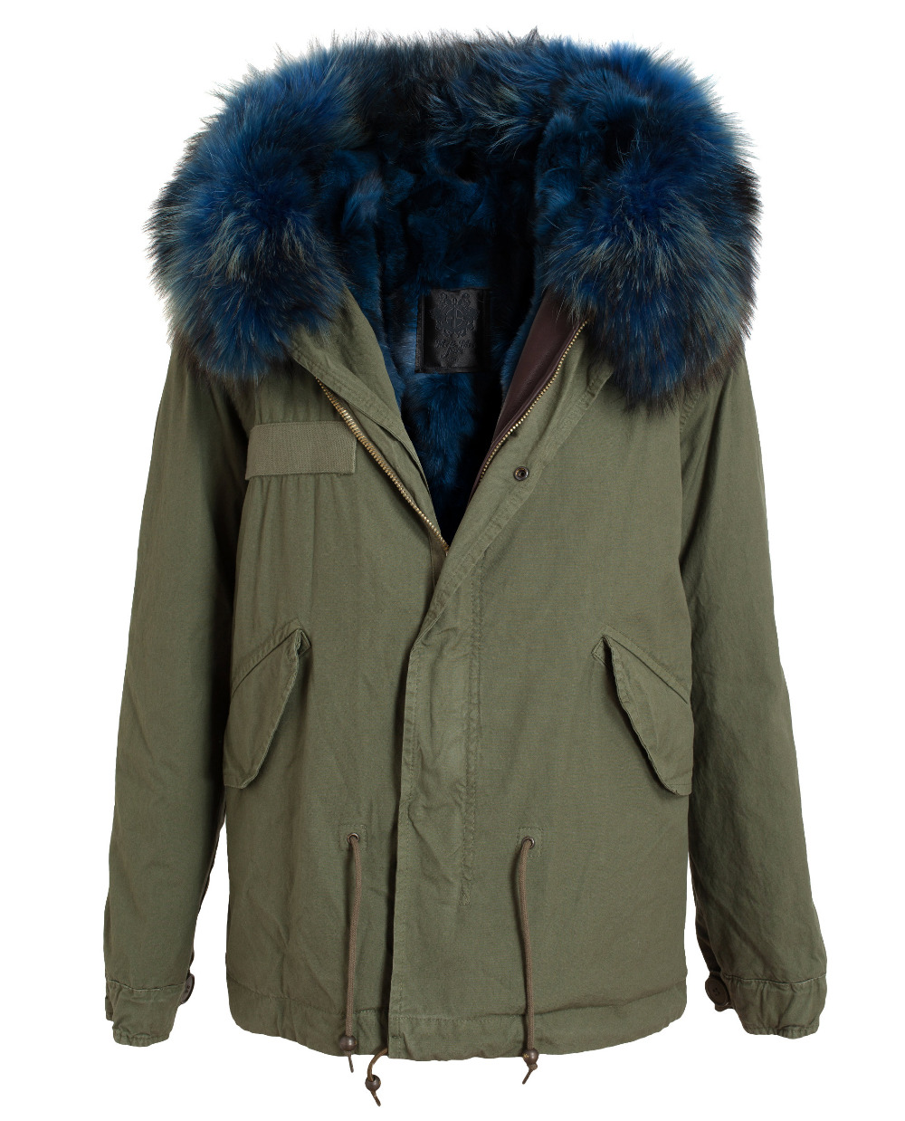 Mr & Mrs Furs Fur Lined Parka Jacket in Green Mr & Mrs ladies down ...