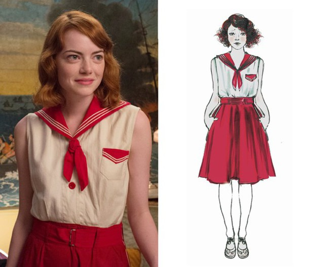 dress sailor vintage emma stone