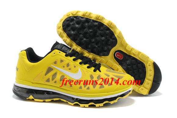 shoes sneakers white black nike air max 2011 sonic yellow cheap