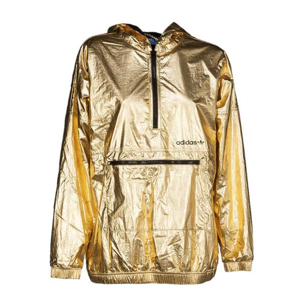 Adidas Originals windbreaker metallic gold jacket