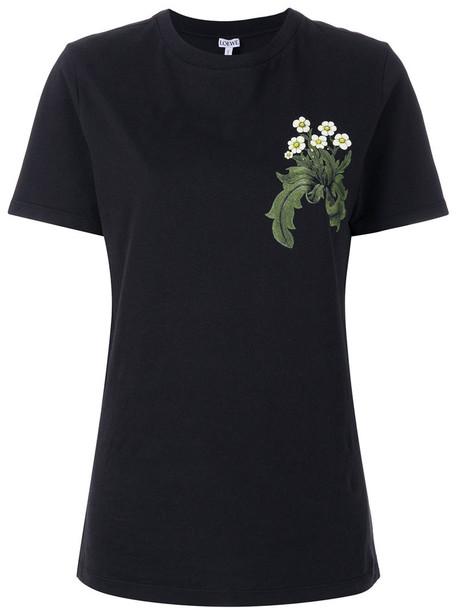 LOEWE t-shirt shirt t-shirt women cotton black top