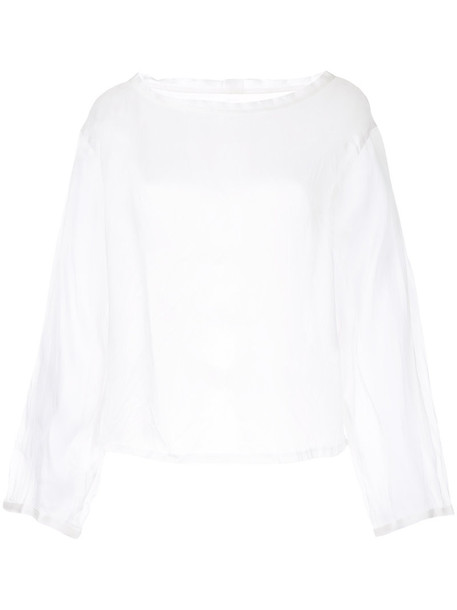 Taylor top women white silk