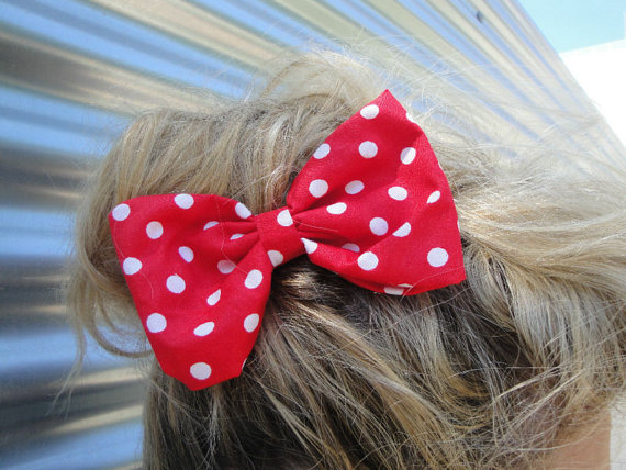Rockabilly Pin up girl RED & WHITE Polka dot by LULUGOESROCKABILLY