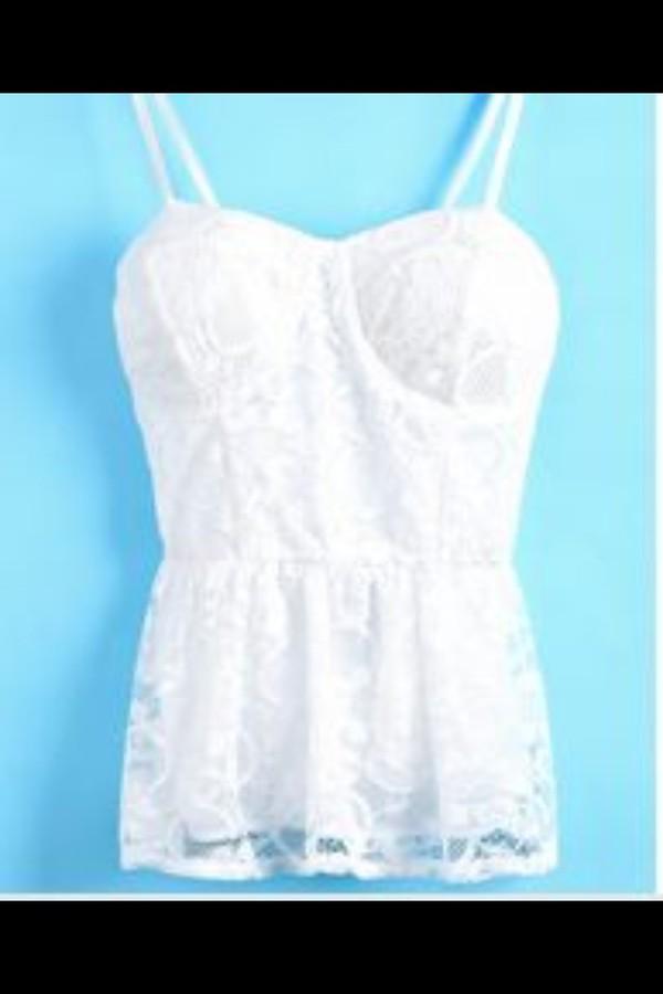 Shirt: peplum, t-shirt, lace shirt, party outfits, top, fancy ...