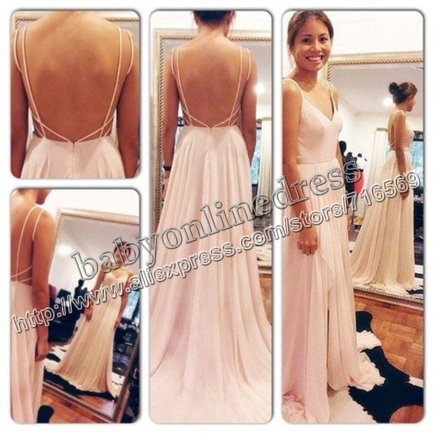 Aliexpress.com : buy sexy open back spaghetti straps vestidos de gala robe de soire 2014 chiffon evening dress long wheretoget weddings and events from reliable dresses fabric suppliers on suzhou babyonline dress co.,ltd