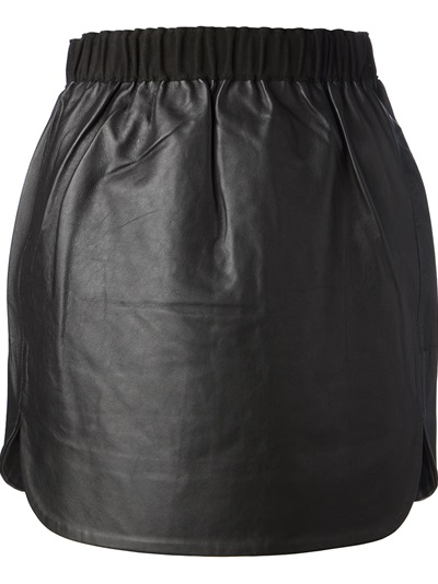 Gat Rimon 'arya' Leather Skirt - Merchant Archive - Farfetch.fr