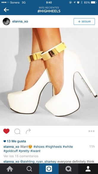 shoes white high heels white high heels gold luxury
