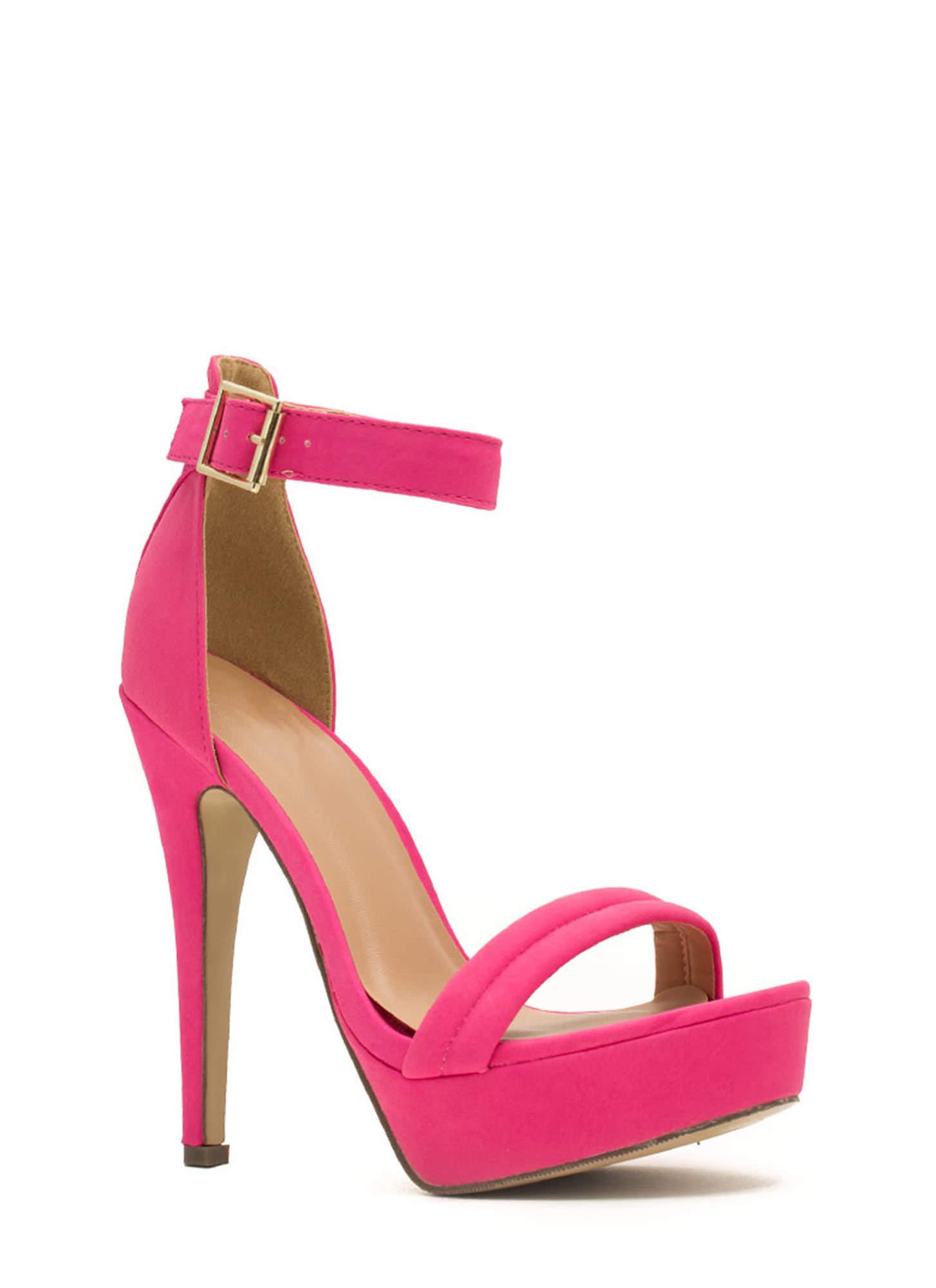 Fuschia Pink Platform Heels