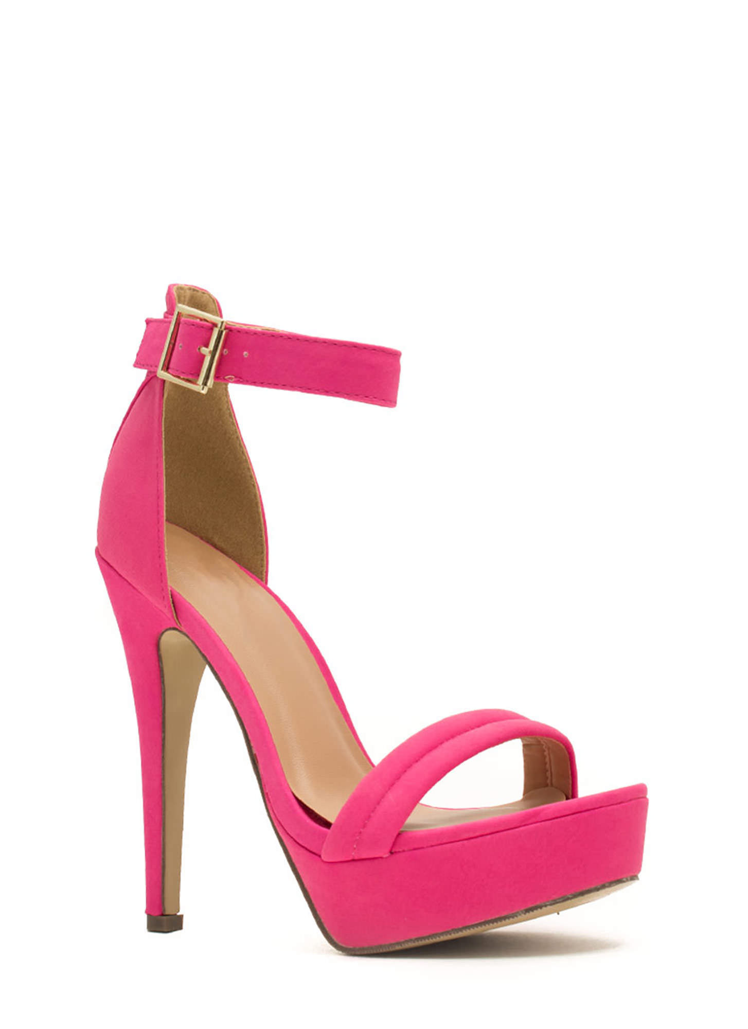 Bright Pink Platform Heels