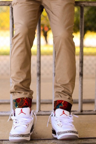 Mens Khaki Skinny Jeans