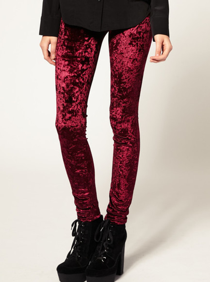 pants velvet dark red red velvet urban outfitters urban urban clothing vintage trousers red pants