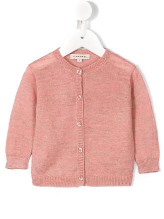 cardigan girl baby toddler purple pink sweater