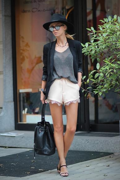 sirma markova jacket top bag jewels sunglasses blogger
