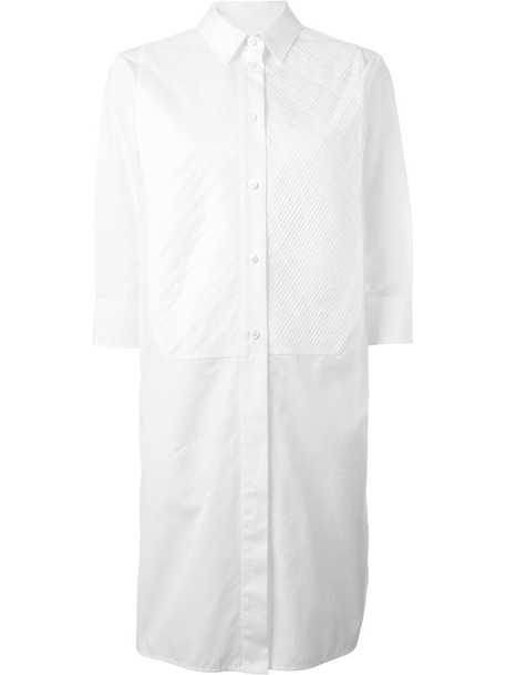 MAISON MARGIELA dress shirt dress pleated women white cotton