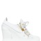 90mm leather wedge sneakers