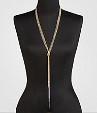 KNOTTED SHIMMER-CHAIN NECKLACE | Express