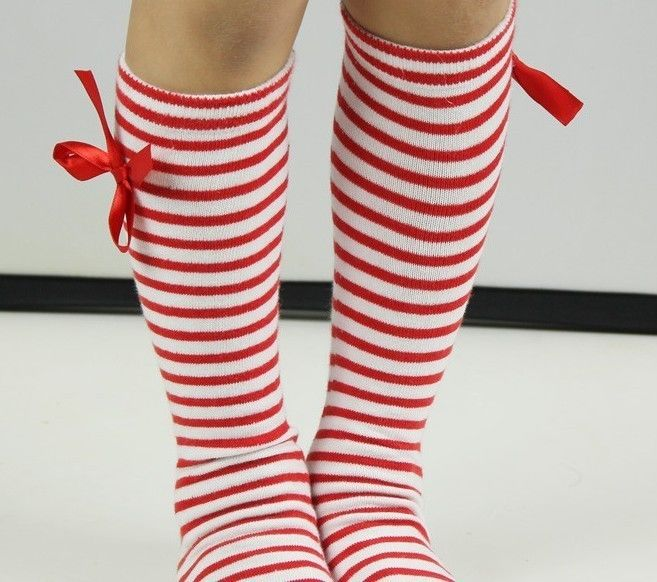 Kids Girls Cotton Bow Soft Knee High Socks 2 8Y Tights Leggings | eBay