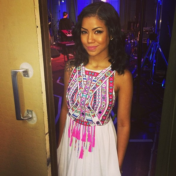 dress jhene aiko maxi dress celebrity style white dress