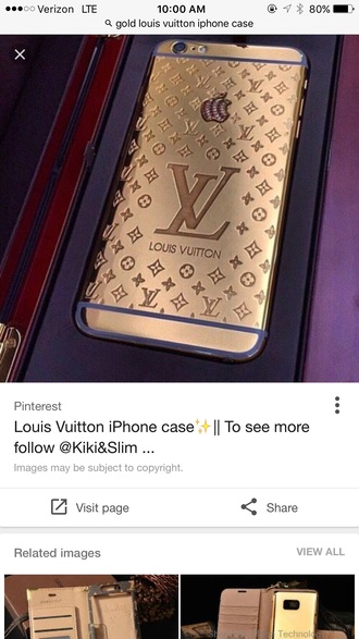 phone cover louis vuitton iphone 6 plus cases gold