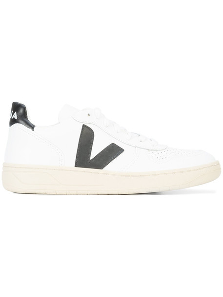 Veja - lace-up sneakers - women - Leather/Canvas/rubber - 37, White, Leather/Canvas/rubber