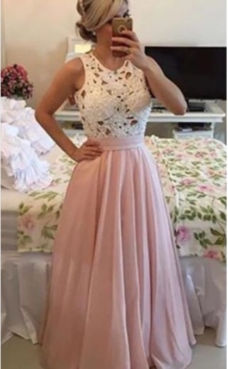 dress cream beige lace long prom wedding formal