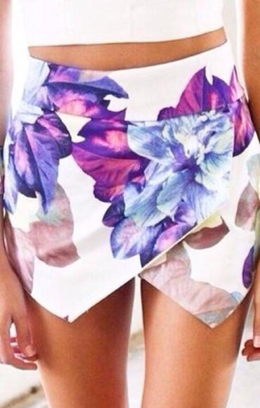 skirt short skirt floral floral skirt