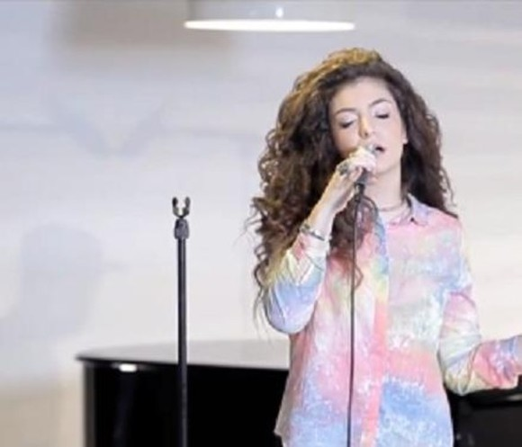 shirt color lorde ella yelich-o'connor deezer session blouse colour light spots rainbow