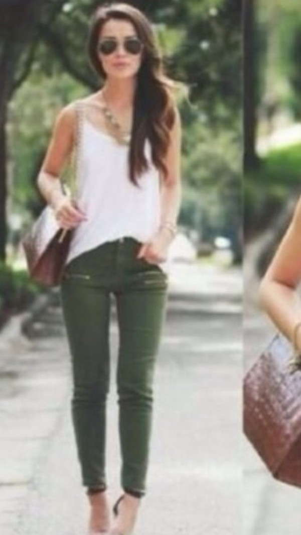Jeans: khaki, khaki pants, pants, green jeans, cargo pants, cargo ...