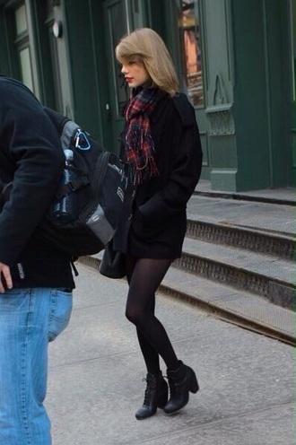 scarf swag taylor swift coat style stylish