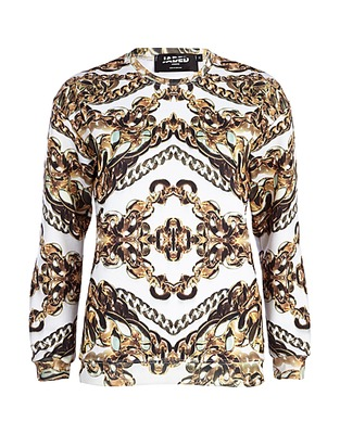 ASOS Fashion Finder | White Jaded London chain print sweatshirt