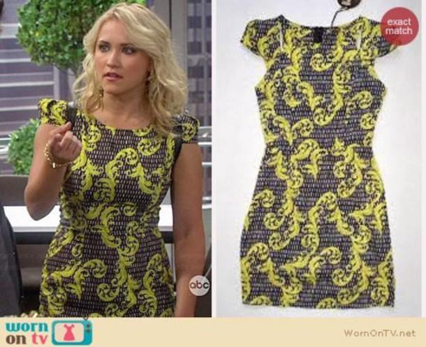 dress yellow dress emily osment blonde hair