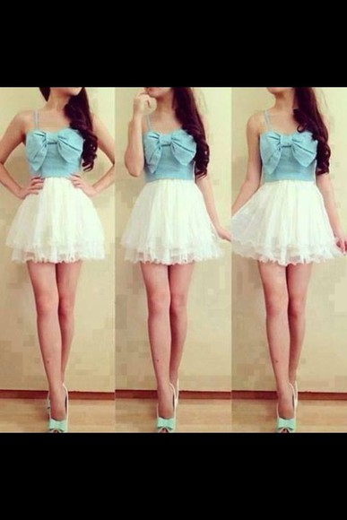 dress cute dress bows denim